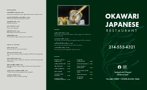 Green Japanese Takeout Menu