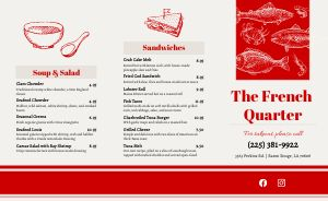 New Orleans Seafood Takeout Menu