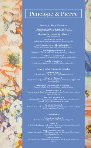 French Painting Menu