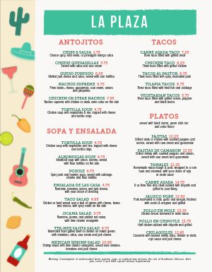 Breezy Mexican Menu
