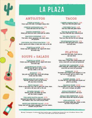 Breezy Mexican Menu