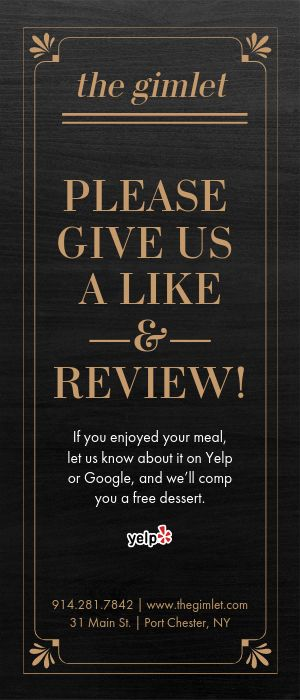 Online Review Rack Card