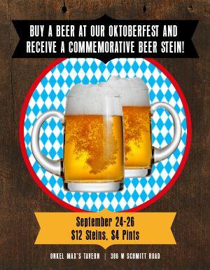 Oktoberfest Stein Flyer