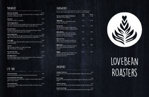 Charcoal Coffee Folded Menu