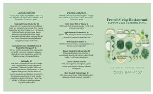 Green Catering Takeout Menu