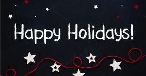 Happy Holidays Starry Night Facebook Post