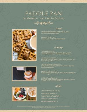 Fall Breakfast Menu