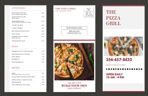 Pizza Grill Menu Mailer