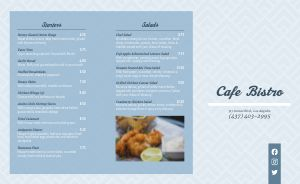 Bistro Cafe Takeout Menu