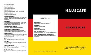 German National Colors Takeout Menu