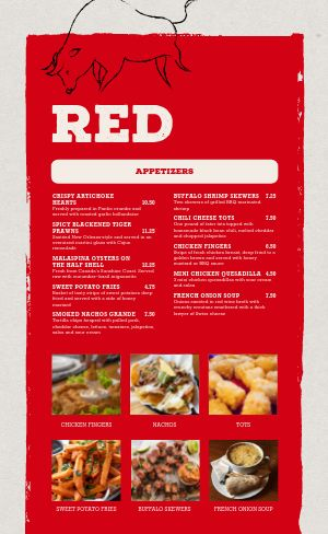 Red Steakhouse Menu