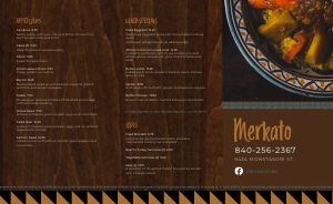 African Eatery Takeout Menu