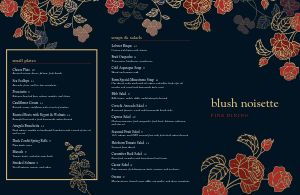 Pacific Fine Dining Folded Menu