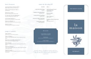 French Eats Folded Menu