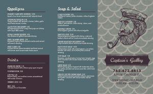 Sample Seafood Takeout Menu