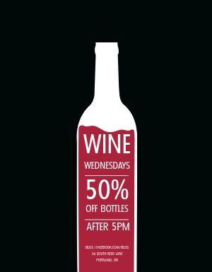 Wine Wednesdays Flyer