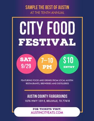 City Food Festival Flyer
