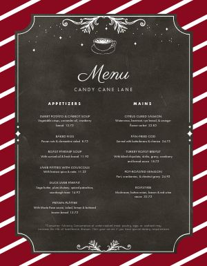 Christmas North Pole Menu