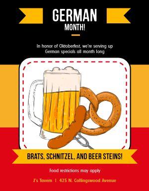 Oktoberfest Restaurant Flyer