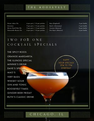 Pub Cocktails Specials Menu