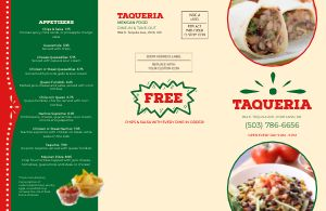 Mexican Family Takeout Menu Mailer