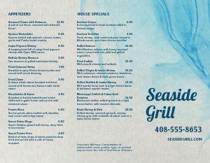 Seafood Grill Takeout Menu