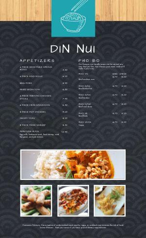 Elegant Vietnamese Menu