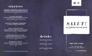 Neighborhood Pub Takeout Menu