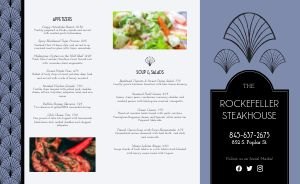Steakhouse Dining Takeout Menu
