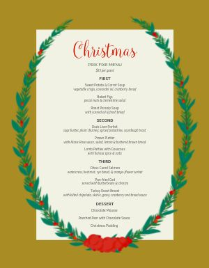 Christmas Set Menu