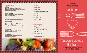 Checkered Italian Takeout Menu