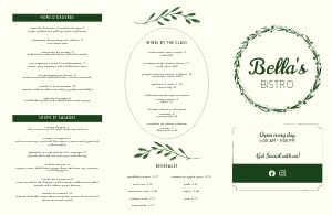 French Wreath Folded Menu