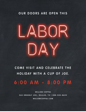Labor Day Special Flyer