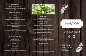 Timber Cafe Folded Menu