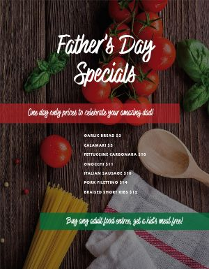 Fathers Day Deal Flyer