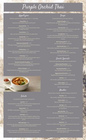 Thai Orchard Menu