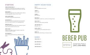 Drink Pub Takeout Menu