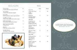 Fancy Fine Dining Folded Menu
