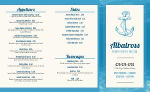 Seafood Eatery Takeout Menu