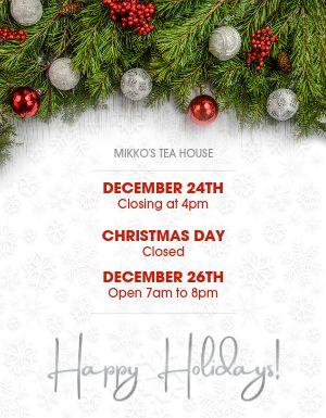 Christmas Hours Flyer