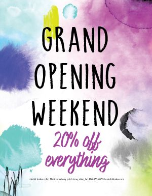Colorful Grand Opening Flyer