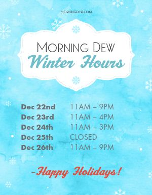 Winter Business Hours Flyer