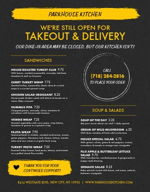Switch to Delivery Takeout Menu