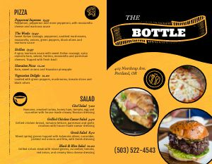 Bar Dining Bifold Takeout Menu