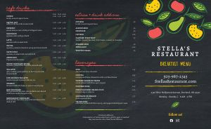 Breakfast Fruits Takeout Menu