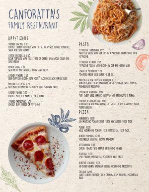 Italian Pasta Family Menu