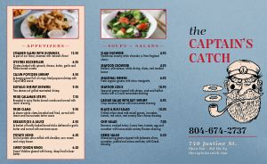 Casual Seafood Takeout Menu