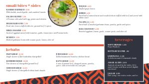 Blue Middle Eastern Digital Menu Board