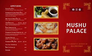 Chinese Cuisine Takeout Menu Example
