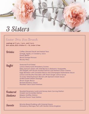 Flowery Easter Menu